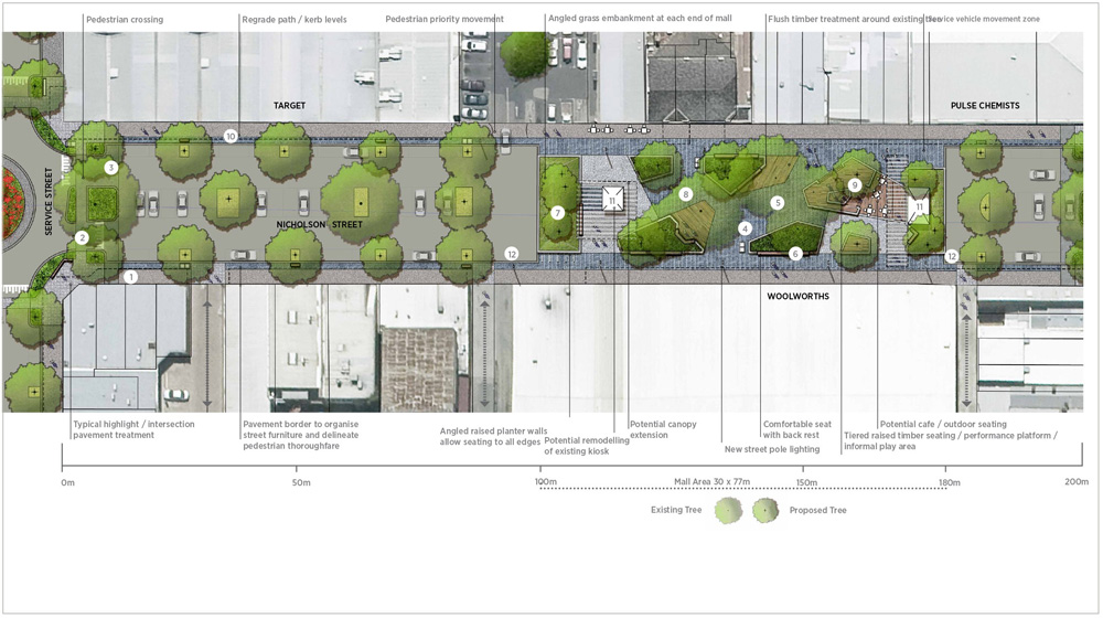 Message consultants projects bairnsdale urban design for Mdg landscape architects